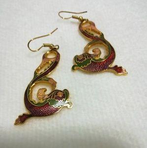 Jewelry - Cloisonne Goldfish Earrings